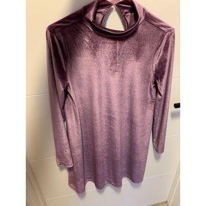 Forever 21 long sleeve velvet purple dress